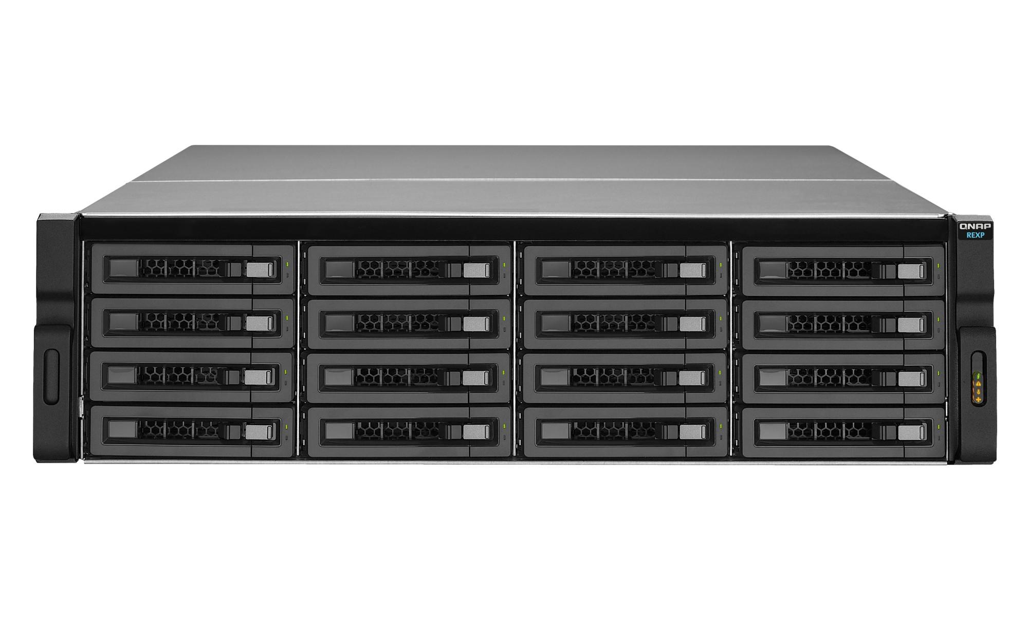 QNAP REXP-1620U-RP 128000GB Rack (3U) Black,Grey disk array