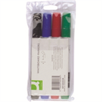 Q-CONNECT KF26038 marker Black,Blue,Green,Red Brush tip 4 pc(s)
