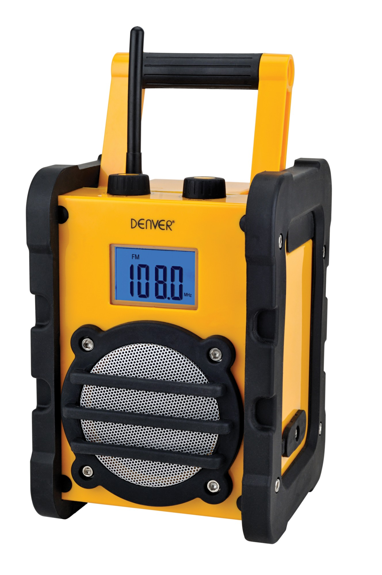 Denver Electronics WR-40 MK3 (3 PCS/EX. CARTON) Portable Analog Black, Yellow radio
