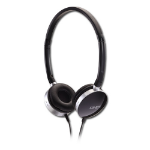 Lindy HF-20 Black,Chrome Circumaural Head-band headphone