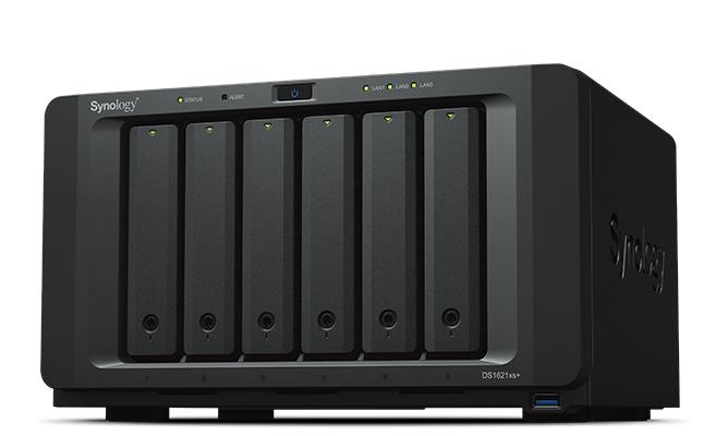 Synology DiskStation DS1621xs+ D-1527 Ethernet Escritorio Negro NAS
