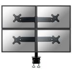Newstar FPMA-D700D4 Flat panel Tischhalter 76,2 cm (30 Zoll) Klemme Schwarz