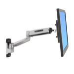 Ergotron LX Sit-Stand Wall Mount LCD Arm Stainless steel flat panel wall mount