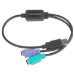 Datalogic ADP-203 Wedge to USB Adapter cable ps/2 0,5 m 2x 6-p Mini-DIN USB A Negro