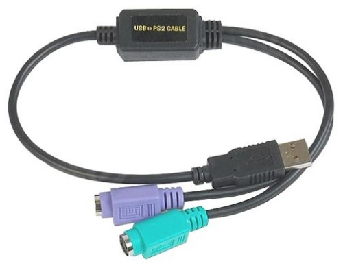 Datalogic ADP-203 Wedge to USB Adapter PS/2 cable 0.5 m Black