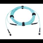 AMP 5-2055711-0 50m MPO Turquoise fiber optic cable