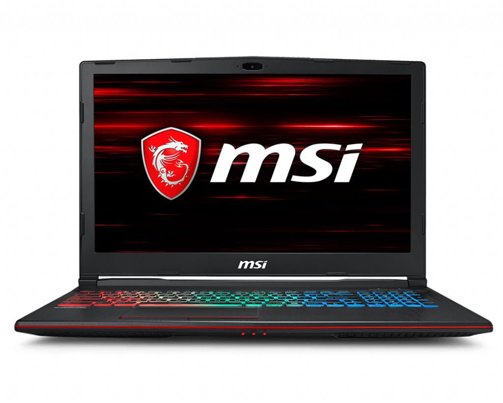 "MSI Gaming GP63 8RE-684XES Leopard Negro Portátil 39,6 cm (15.6"") 1920 x 1080 Pixeles 8ª generación de procesadores Intel® Core™ i7 16 GB DDR4-SDRAM 1000 GB SSD FreeDOS"