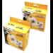 Fellowes 90691 Sleeve case 1 discs Transparent, White
