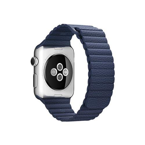 Apple 42mm Leather Loop - Medium - watch strap - midnight blue - for Watch (42 mm)