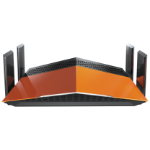 D-Link AC1900 EXO wireless router Dual-band (2.4 GHz / 5 GHz) Gigabit Ethernet Black,Orange