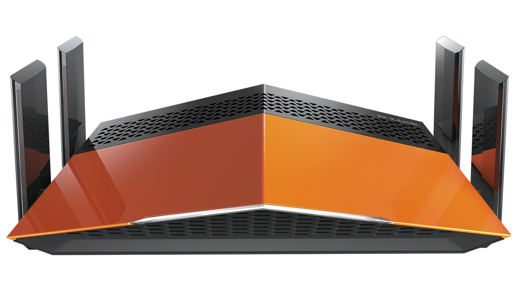 D-Link AC1900 EXO Dual-band (2.4 GHz / 5 GHz) Gigabit Ethernet Black,Orange