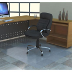 MARBIG TUFFMAT POLYCARBONATE CHAIRMAT HARD FLOOR 900 X 1200MM CLEAR