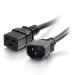 C2G 3ft, IEC C14/IEC320 C19 cable de transmisión Negro 0,9 m C14 acoplador C19 acoplador