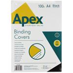 FELLOWES 6502001 APEX GLOSS COVER A4 BLK 100PK