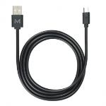 Mobilis 001277 USB cable 1 m USB 2.0 USB A Micro-USB B Black