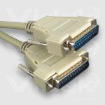 Videk DB25M - DB25F Assembled (10Mtr) serial cable Grey 10 m