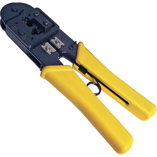 CABLENET 87 2807 CABLE CRIMPER CRIMPING TOOL BLACK,YELLOW