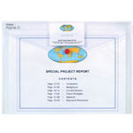 Snopake Polyfile ID - Clear Polypropylene (PP) White folder