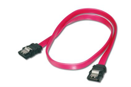 ASSMANN Electronic 2x SATA 7-pin, 0.5 m SATA-kabel 0,5 m Zwart, Rood
