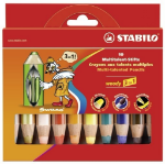Stabilo woody 3 in 1 Multi 10pc(s) colour pencil