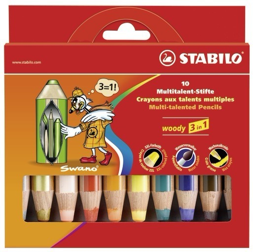 STABILO woody 3 in 1 colour pencil 10 pc(s) Multi