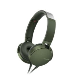 Sony XB550AP mobile headset Binaural Head-band Green Wired