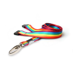 Digital ID 15mm rPET Rainbow Lanyards with Metal Lobster Clip (Pack of 100)