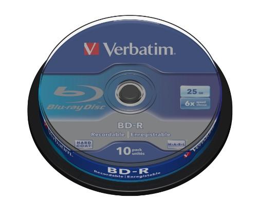 Verbatim BD-R SL 25GB 6 x 10 Pack Spindle 10 pc(s)