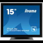 "iiyama ProLite T1532MSC-B3AG touch screen monitor 38.1 cm (15"") 1024 x 768 pixels Multi-touch Tabletop Black"