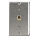 Black Box WP367 wall plate/switch cover Stainless steel
