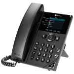 POLY 250 IP phone Black 4 lines LCD