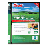 Pentel Recycology A4 Display Book 20Pkt with Front Pocket BK