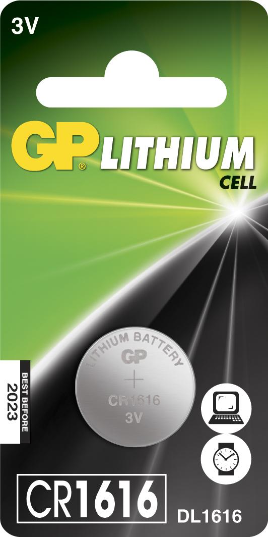 GP Batteries LITHIUM BUTTON CELL CR1616