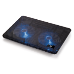 "Conceptronic CNBCOOLPAD2F 17"" Black notebook cooling pad"