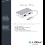 BLUPEAK USB-C TO 4 X USB-A 3.0 HUB (2 YEAR WARRANTY)