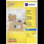 Avery J8168-100 self-adhesive label White 200 pc(s)