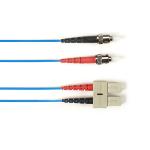 "Black Box FOLZH50-003M-STSC-BL fiber optic cable 118.1"" (3 m) LSZH OM2 ST SC Blue"