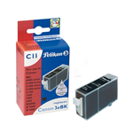 Pelikan 335050 (C11) compatible Ink cartridge black, 400 pages, 27ml (replaces Canon BCI-3 EBK)