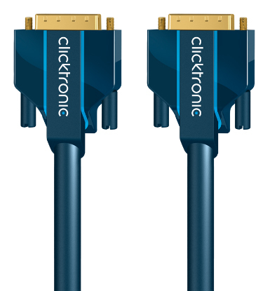 DVI-D Connection Cable. M/M. Blue 10m
