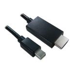 Cables Direct Mini DisplayPort Male to HDMI Male Converter, 1 Metre