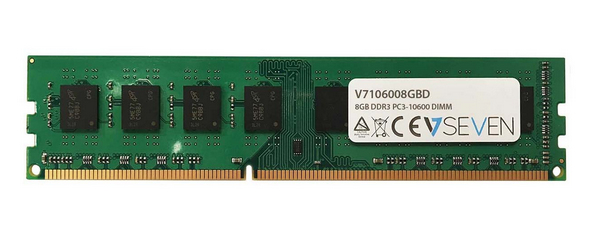 V7 8GB DDR3 PC3-10600 - 1333mhz DIMM Desktop módulo de memoria - V7106008GBD