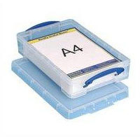 REALUSE REALLY USEFUL 4L BOX FOR A4 PAPER CLEAR