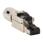 Tripp Lite N238-P01-MPTL-A wire connector RJ-45 Black,Metallic