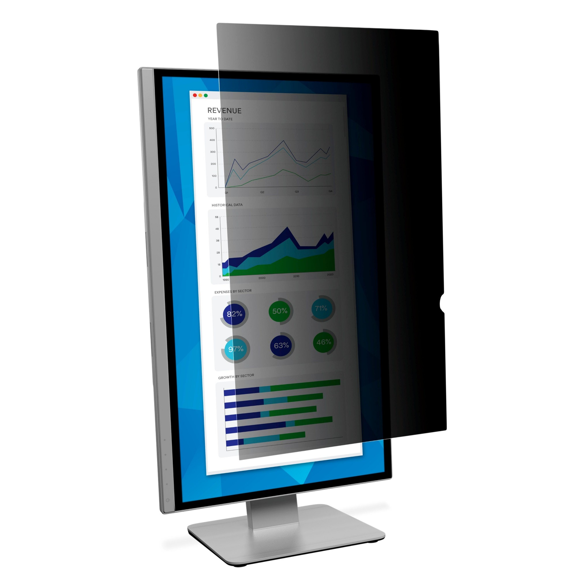 Privacy Filter For 21.5in Widescreen Portrait Monitor
