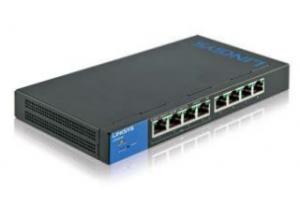 Linksys LGS308 Managed Gigabit Ethernet (10/100/1000) Black,Blue