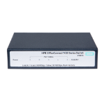 Hewlett Packard Enterprise OfficeConnect 1420 5G Unmanaged L2 Gigabit Ethernet (10/100/1000) Grey 1U