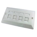 Cables Direct Faceplate 4 Port outlet box White