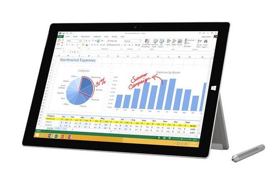 Microsoft Surface Pro 3 tablet 4th gen Intel® Core™ i5 i5-4300U 128 GB Silver