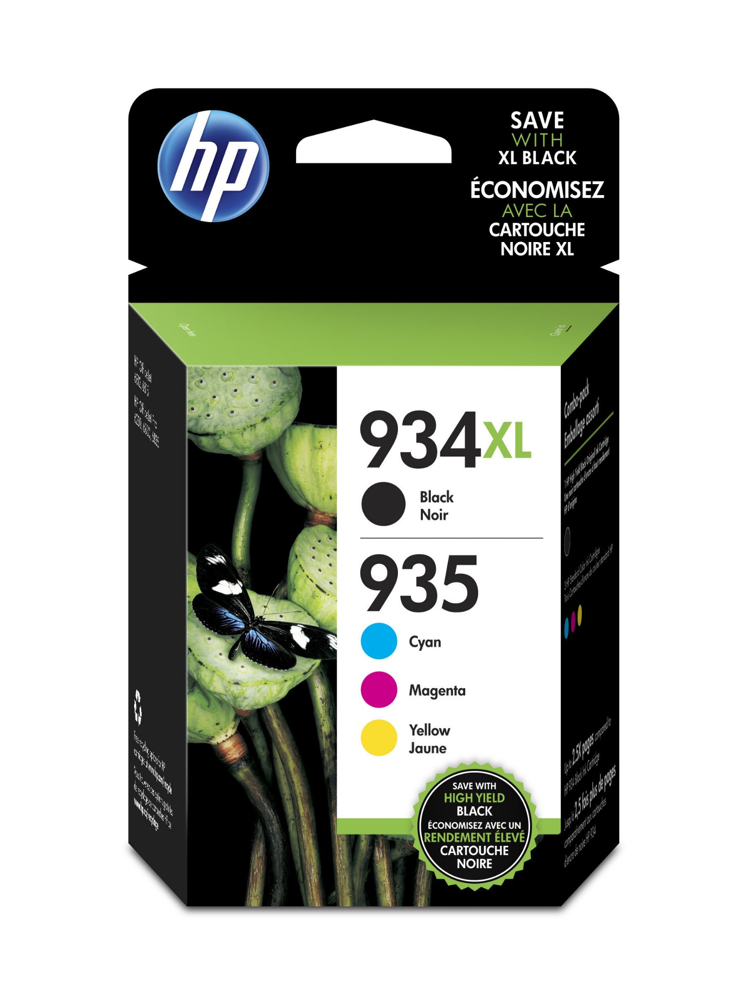 HP X4E14AE (934XL/935XL) Ink cartridge multi pack, 1000pg + 3x825pg, Pack qty 4