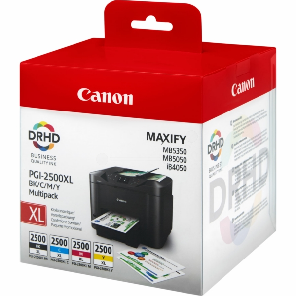 Canon 9254B004 (PGI-2500 XLBKCMY) Ink cartridge multi pack, 70,9ml + 3x19,3ml, Pack qty 4